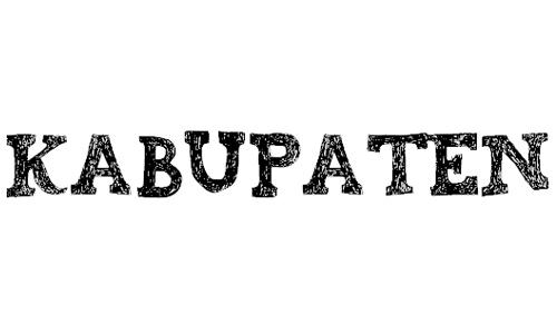 kabupaten font