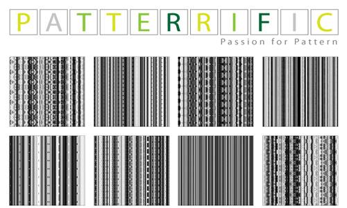 Seamless Pixel Patterns Black White Vertical Lines