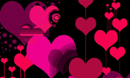 Vector Style Heart Photoshop Brushes