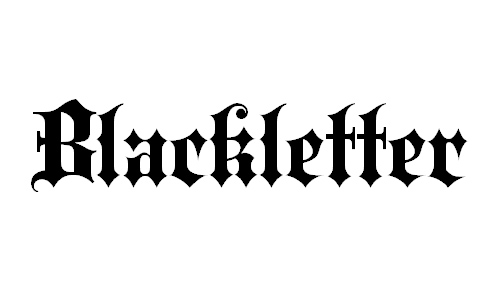blackletter font
