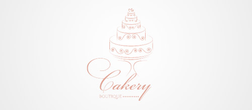 cake boutique logo design