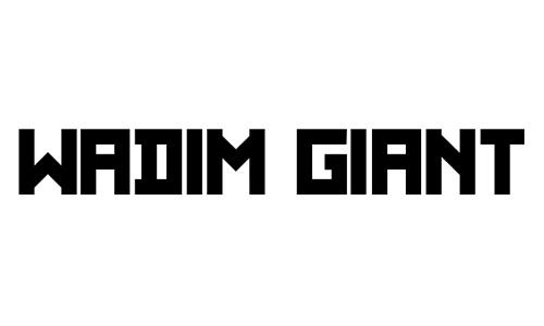 Wadim Giant font