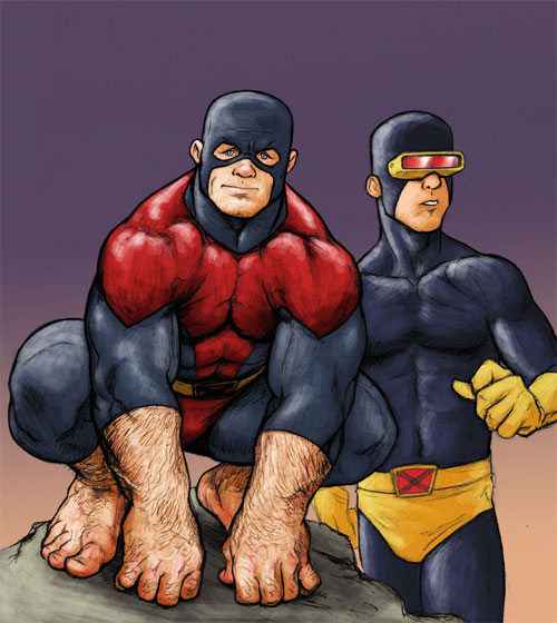 Beast and Cyclops - Colored