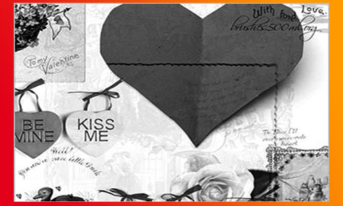 My Vintage Valentine - Free Valentines Photoshop Brush Set