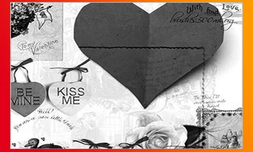 My Vintage Valentine - Free Valentines Photoshop Brush Set