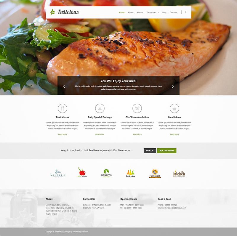 food portfolio theme