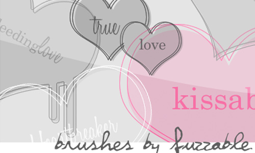 Brushes Hearts