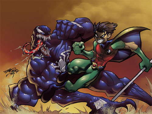 Robin vs Venom color