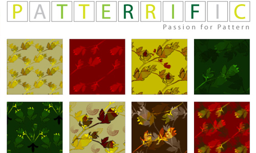 Seamless Pixel Patterns Red Yellow Green Leaves