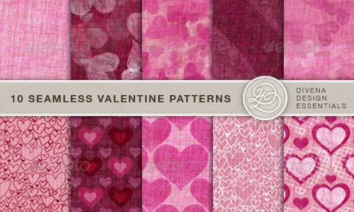 10 Seamless Valentine Pattern