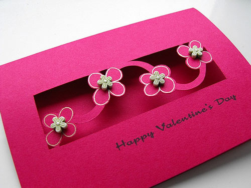 Pretty In Pink Valentines Card