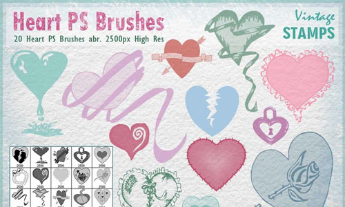Heart Brushes for Photoshop