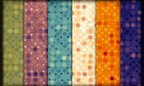 Free Exotic Polkadots Photoshop Pattern Set