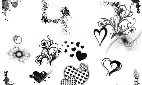 Handmade Hearts Brushes