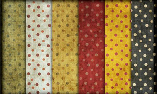 Grungy Polka Dots Photoshop Patterns