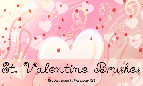 A Collection of 43 Hearts and Valentine PS Brushes | Naldz Graphics