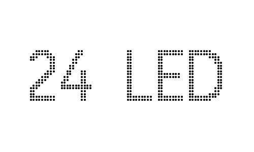24 led font