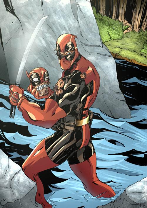 Deadpool Headpool in Colour