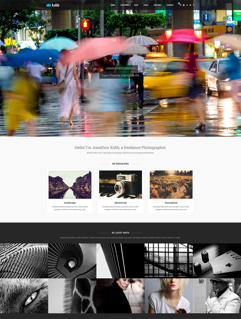 photography magazine theme
