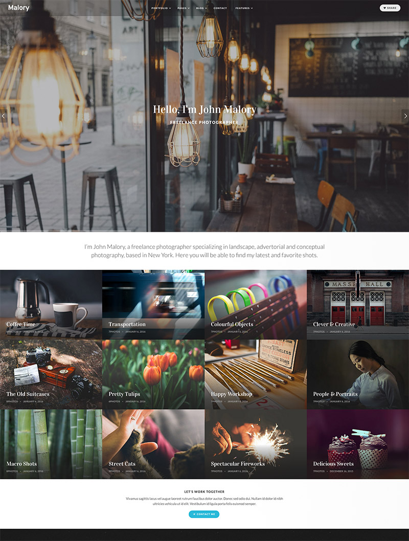 site template grid