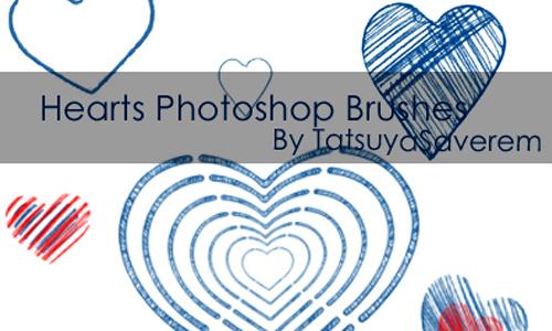 Photoshop Brushes Hearts