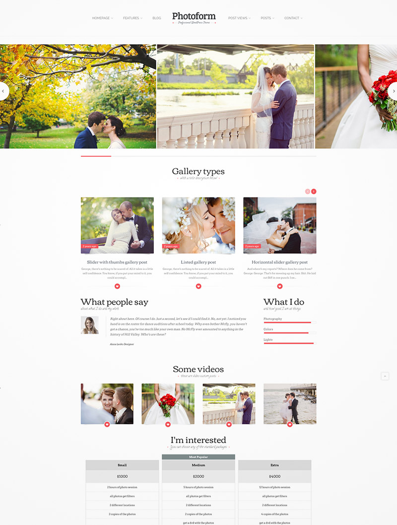 photo wordpress design