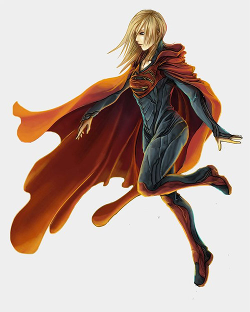 supergirl concept illustrations