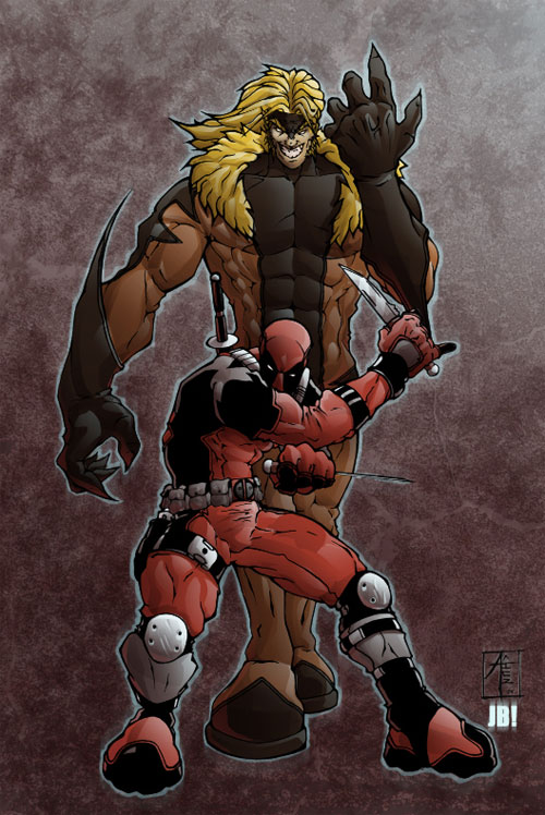 Deadpool and Sabertooth