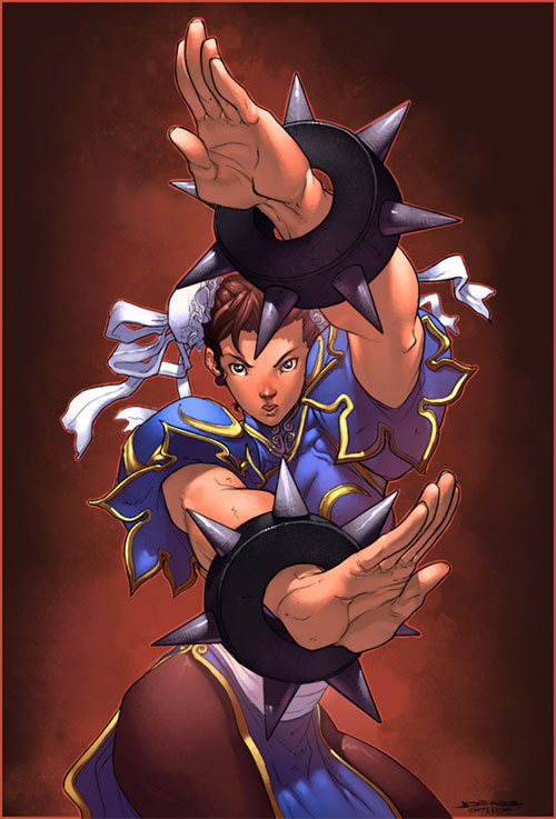 chun li coloured by luxun
