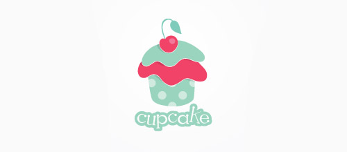 cute cupcake logo design