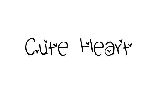 cute free heart font