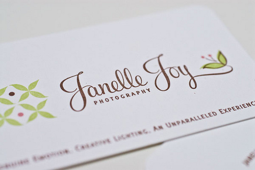 Eye-Catching Photography Business Card