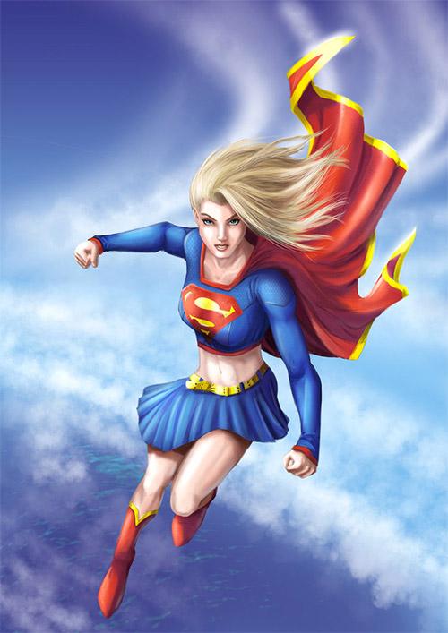 kara illustrations supergirl