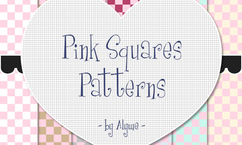 pink square patterns