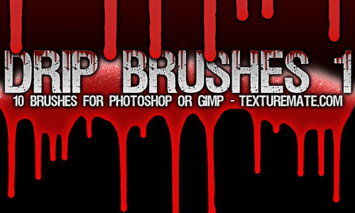 Creepy Drip Photoshop Brushes