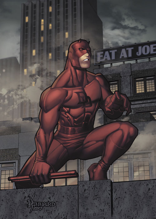 DareDevil on rooftop