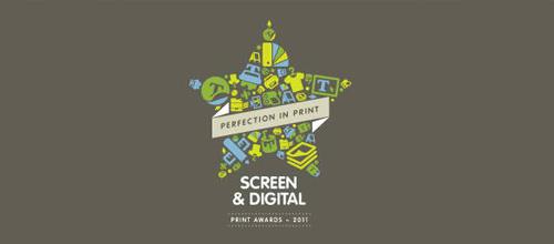 Screen & Digital Print Awards - 2011 logo