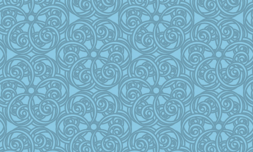 Ornate Swirl Blue