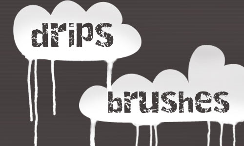 Superb Drip Photoshop Brushes