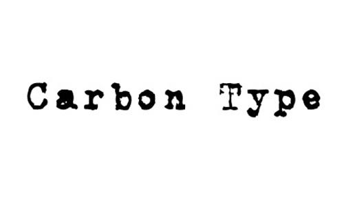 Carbon Type font