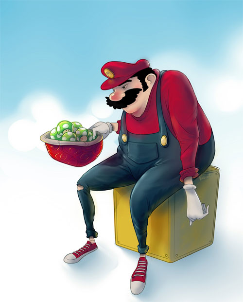 Fat'n Old Super Mario