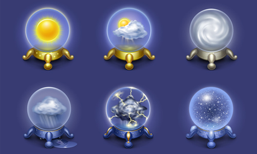 Magic Weather Icons by Iconka.com