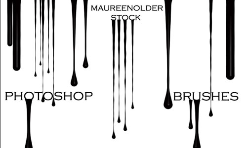 Amazing Drip Photoshop Brushes