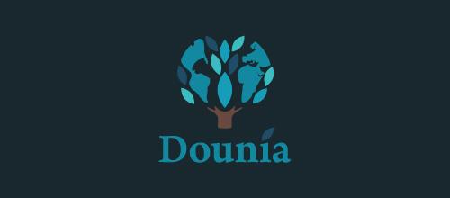 Dounia, Mediterranean food logo