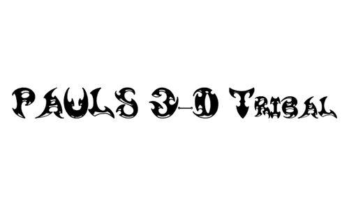 Pauls 3-D Tribal Font
