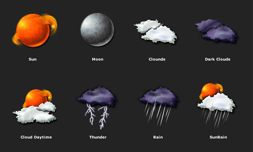 30 Sets Of Free Weather Icons Naldz Graphics