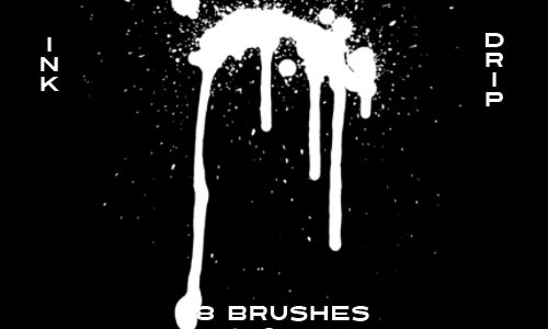 Exceedingly Cool Drip Photoshop Brushes