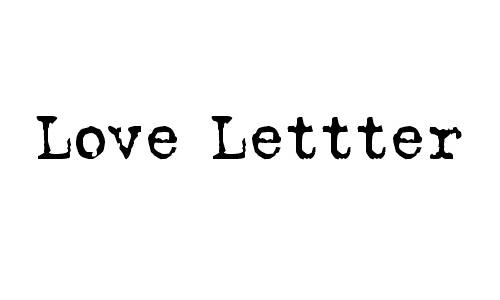 Love Letter font