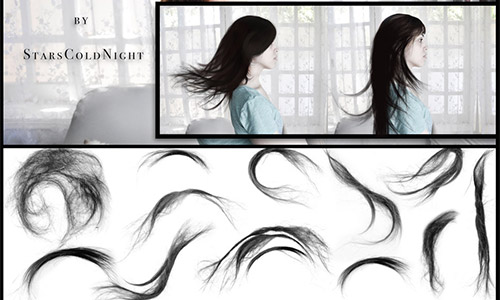 hair photoshop ABR