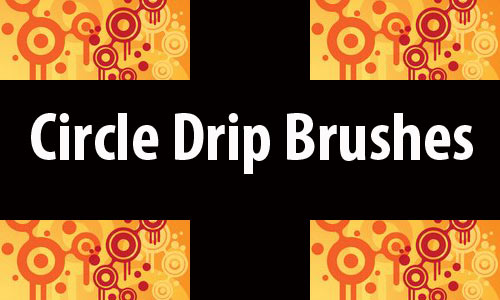 Colorful Drip Photoshop Brushes